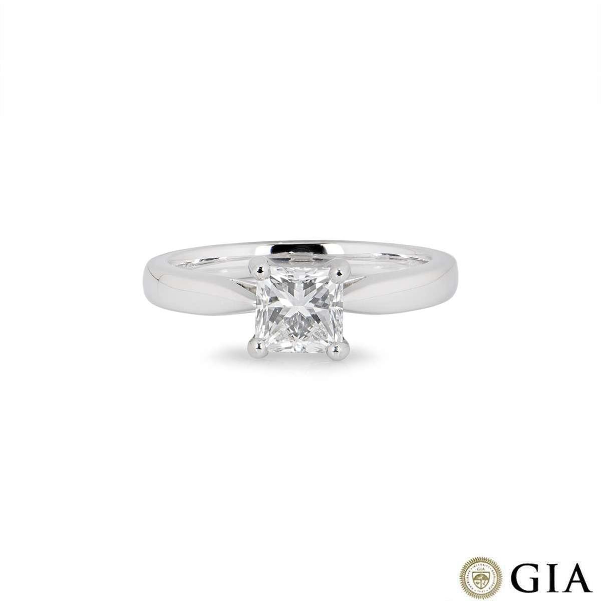 Platinum Princess Cut Diamond Ring 1.03ct G/VS1